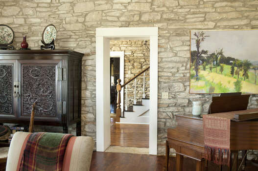 The Powells' large living room shares 
