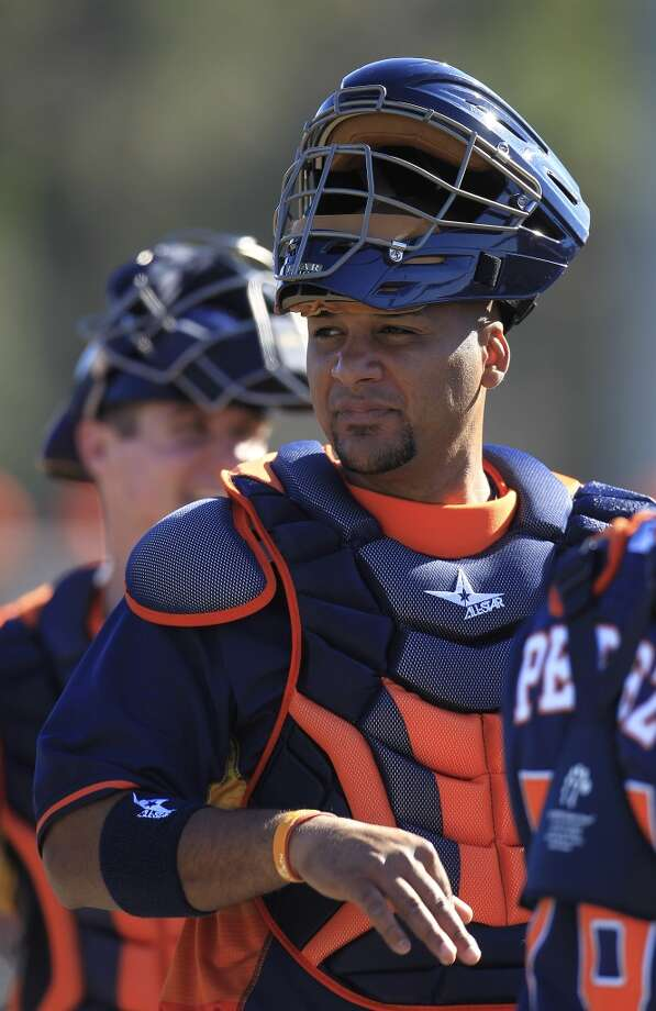 Carlos Corporan Catcher Photo: Karen Warren, Houston Chronicle