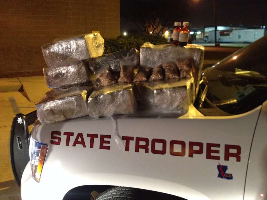 100 pounds of marijuana, 11,000 ecstasy tablets and 8 ounces of Codeine syrup were found in 23-year -old Jamorrius R. Gibson's Honda Accord. Photo: Louisiana State Police