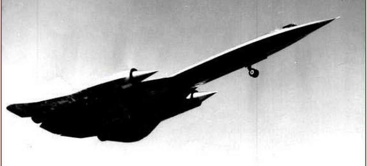 A rare photo of an airborne A-12 with its landing gear visible. Photo: CIA.gov
