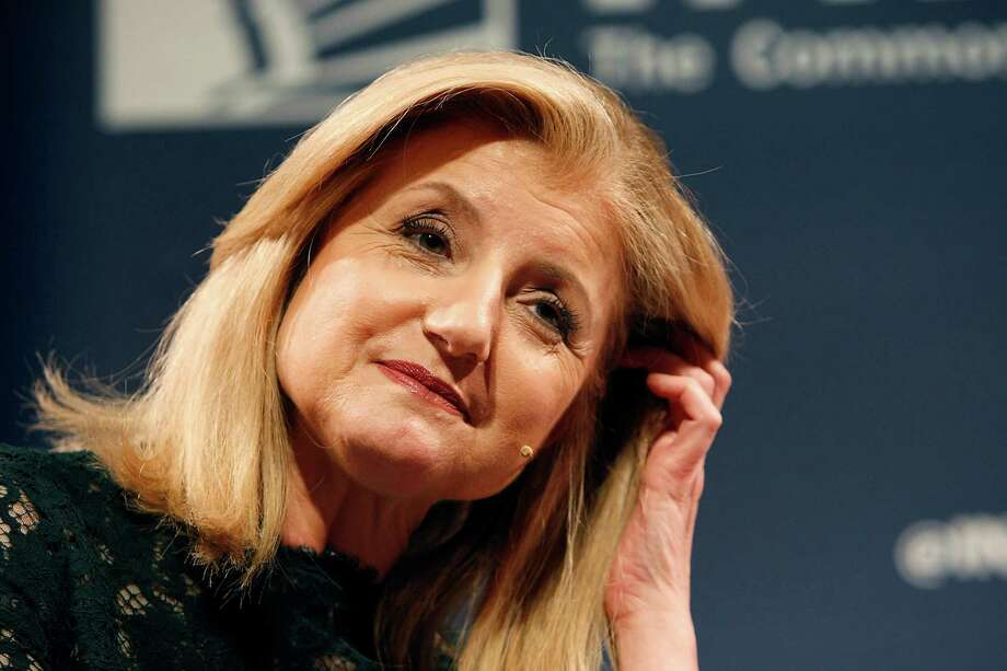 Arianna Huffington, President and Editor-in-Chief of the Huffington Post Media Group, looks on during an interviewed by Sheryl Sandberg, Facebook COO, during a Commonwealth Club held forum entitled Redefining Success, at Davies Symphony Hall in San Francisco, CA, Thursday March 27, 2014. Photo: Michael Short / The Chronicle / ONLINE_YES