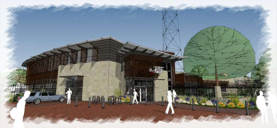An artist's rendering of the new KSAT building from  Bartlett Cocke General Contractors. Photo: KSAT