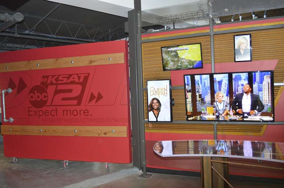 Media Wall: An area in the newsroom where staffers can  broadcast live  on a moment's notice. Photo: KSAT