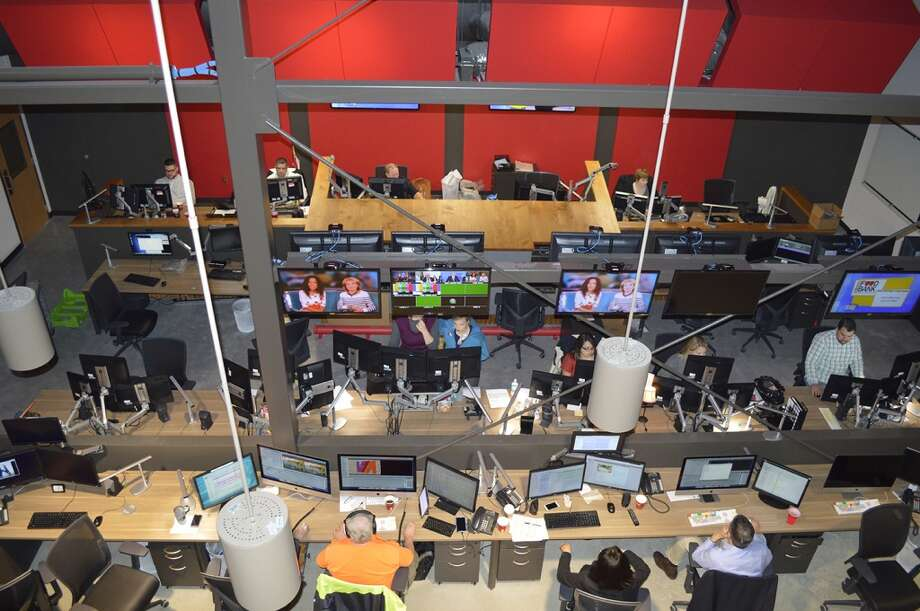Newsroom birdseye view: Photo was taken from the second floor, which houses sales, business and the KSAT general manager. Photo: KSAT