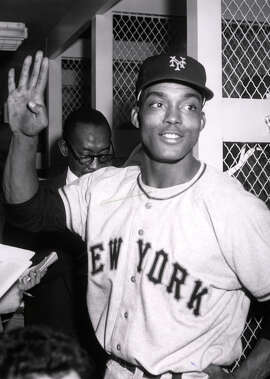 After playing in the Negro Leagues and in Mexico, Monte Irvin made his major league debut with the Giants in 1949.