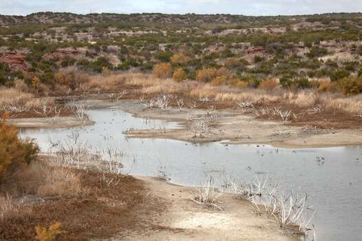 Drought conditions low water reservoir Copper Breaks State Park Texas Photo: David Parsons, Getty Images