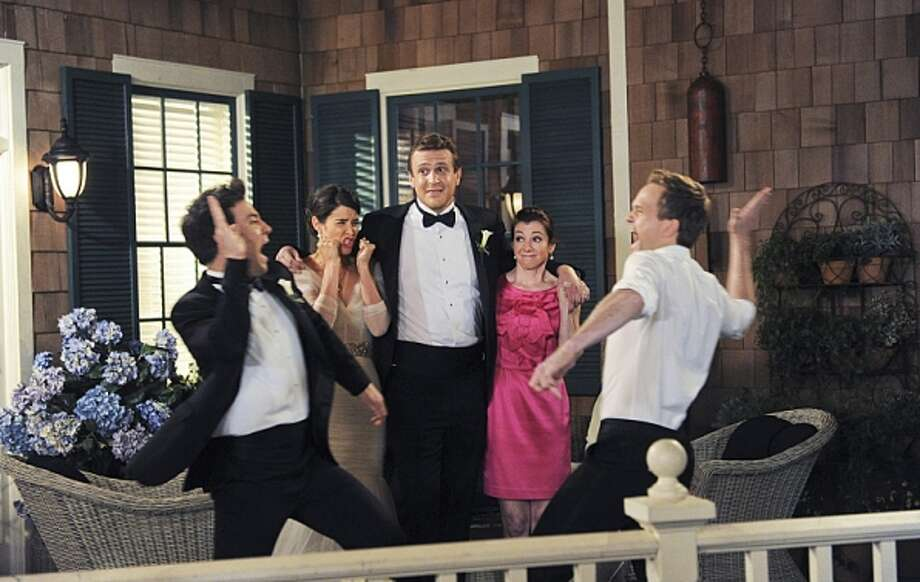 "Ron P. Jaffe / Fox Television ""How I Met Your Mother"" stars Josh Radnor as Ted, Cobie Smulders as Robin, Jason Segel as Marshall, Alyson Hannigan as Lil, and Neil Patrick Harris as Barney."