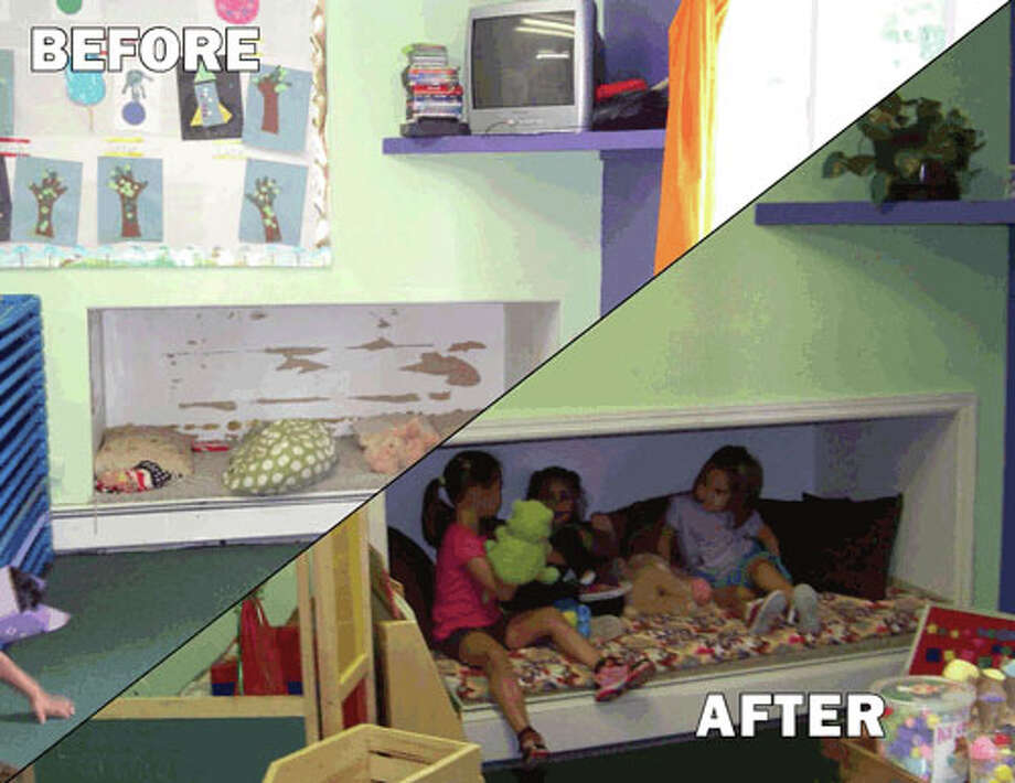 "Before and After shot of a child care facility that benefitted from the ""Make a Difference: One Play Space at at Time"" ( Courtesy Capital District Child Care Council)"