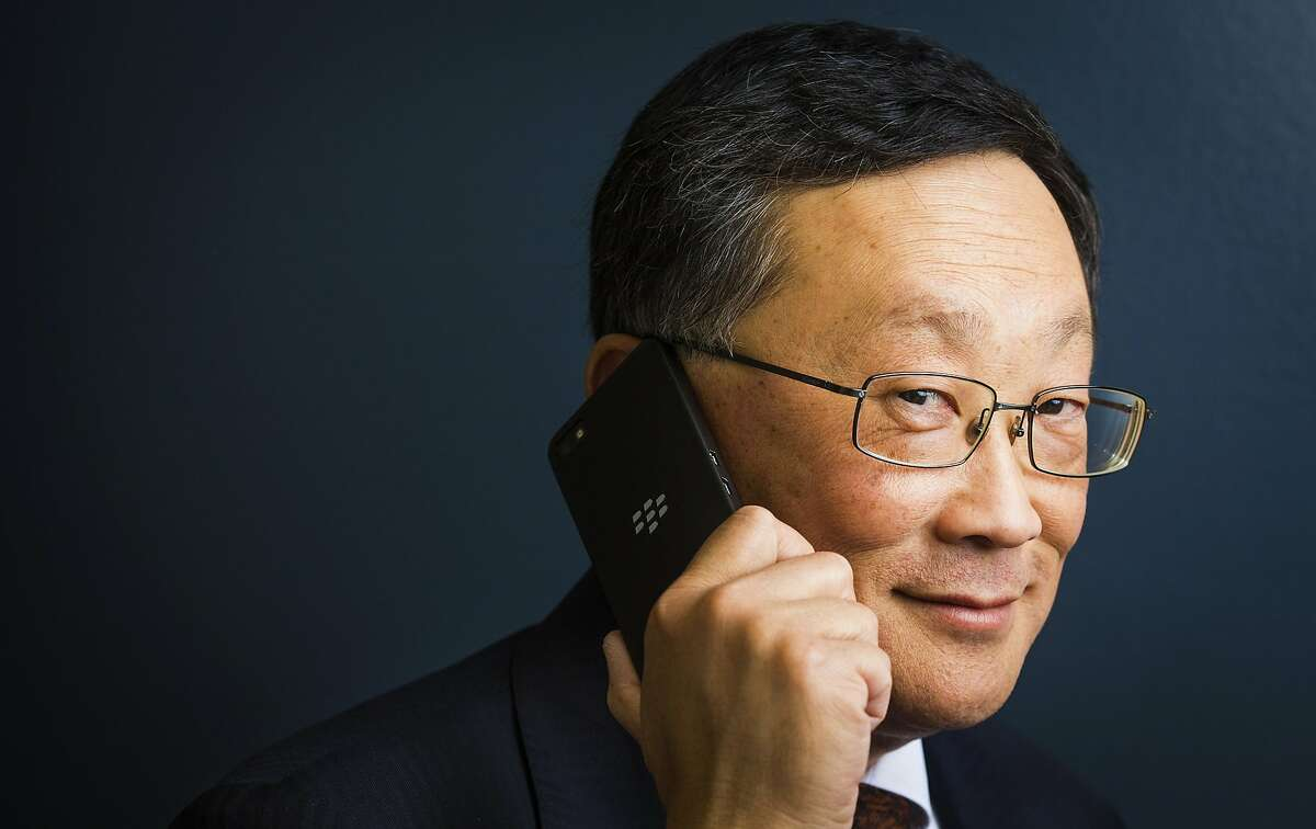 New BlackBerry CEO John Chen posted a smaller loss than analysts had been expecting.