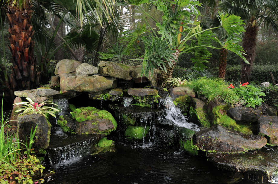 Woodland Water Gardens features falls, fountains, ponds and streams and lush plantings. Jerry Baker photo Photo: Jerry Baker, Freelance