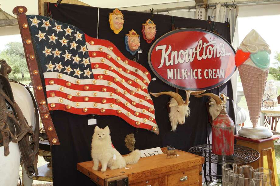 A melange of goods at Marburger Farm Antique Show / ONLINE_YES