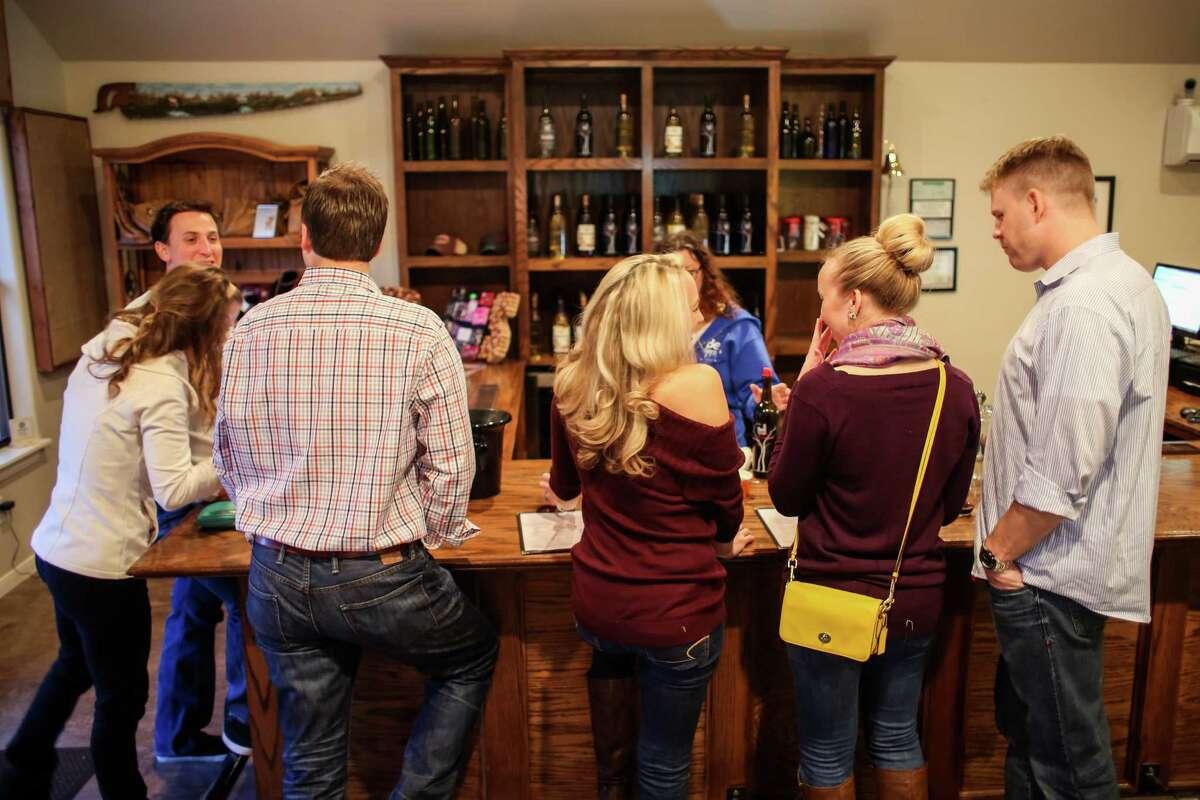 Bell Springs Winery Established in 2009Hours: Thurs 12-5, Fri 12-6, Sat & Sun 11-6, Mon 12-5Location: 3700 Bell Springs Rd., Dripping Springs, TX 78620Phone: (830) 483-9463Website: bellspringswinery.com