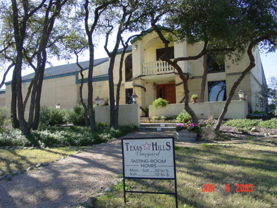 Texas Hills VineyardEstablished in 1995 Hours: Mon-Thurs 10-5 Fri-Sat 10-6 Sun 12-5 Location: 878 RR 2766, Johnson City, TX 78636 Phone: (830) 868-2321 Website: texashillsvineyard.com Photo: Texas Hills Vineyard