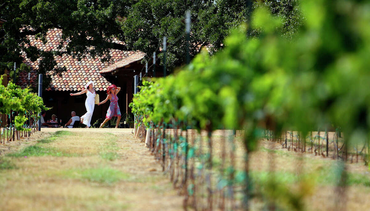 Vineyards Then park up at one of the area's legendary vineyards. Stroll or even skip between the vines with your love and enjoy a glass of Texas' finest vintage.