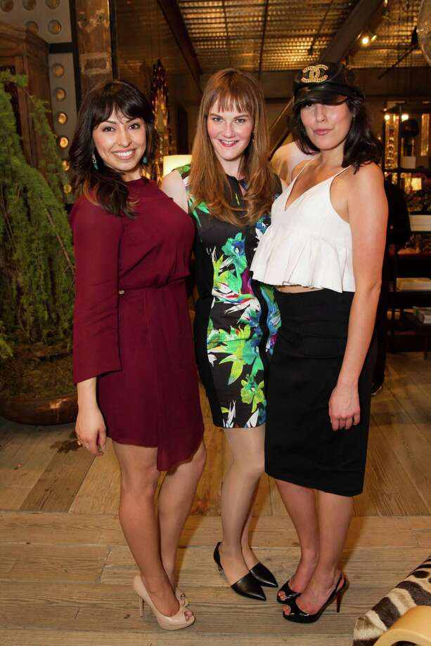 Gabriella Marmolejo, Ginger Coy and Bianca Nolfi at theCavalier@Couplaunch partyon March 27, 2014. Photo: Sandra Garcia For Drew Altizer, Drew Altizer Photography / Drew Altizer Photography