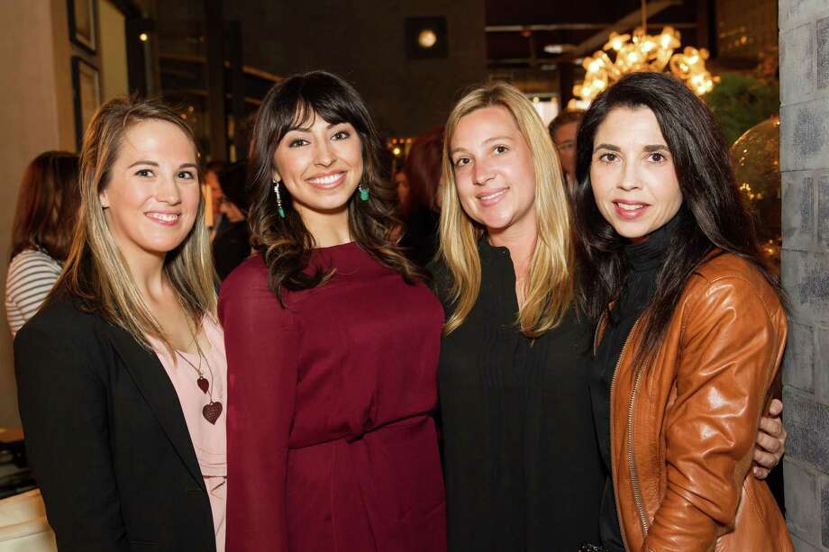 Janelle Baldock, Gabrielle Marmolejo, Lisa Davey and Candace Cavanaugh at the Cavalier@Coup launch party on March 27, 2014. Photo: Sandra Garcia For Drew Altizer, Drew Altizer Photography / Drew Altizer Photography