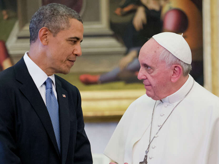 """Pope Francis, religious leaderPresident Barack Obama guest wrote the Time profile on the Catholic leader. """"His Holiness has moved us with his message of inclusion, especially for the poor, the marginalized and the outcast. But it has been his deeds, his bearing, the gestures at once simple and profound — embracing the sick, ministering to the homeless, washing the feet of young prisoners — that have inspired us all.""""Related: Looking back at Pope Francis' first year Photo: Pablo Martinez Monsivais, AP / AP2014"""