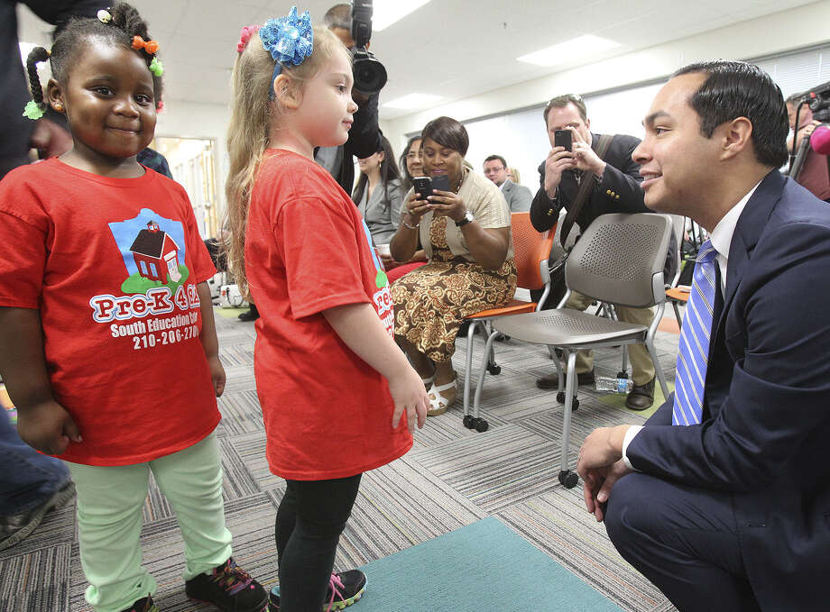 "A reader defends the Pre-K 4 SA program — championed by Mayor Julián Castro, shown here during ceremonies at the Southside Pre-K4 SA last month — against criticism that it is merely a ""baby-sitting"" service. Photo: Tom Reel / San Antonio Express-News / San Antonio Express-News"