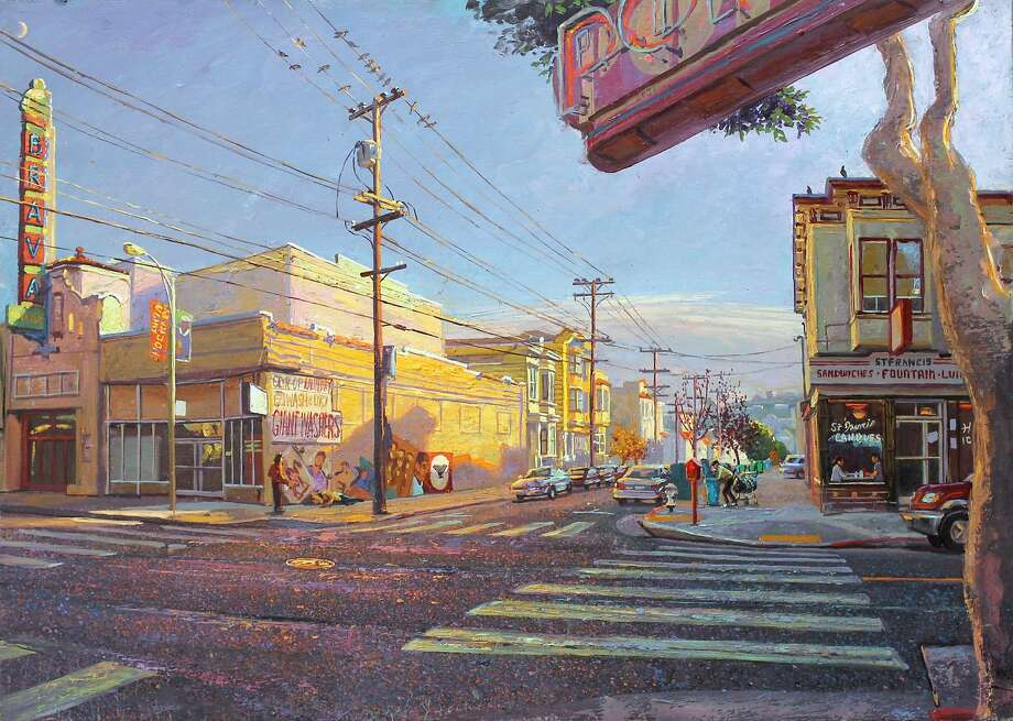 "Anthony Holdsworth's ""Brava"" portrays the view looking south on York Street at 24th Street. Photo: Courtesy Of The Artist"