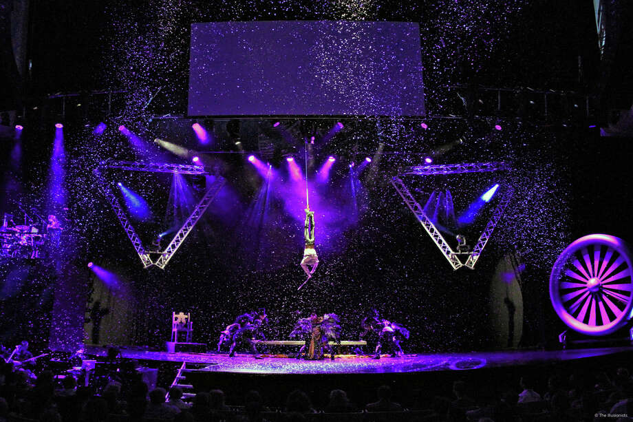 "Andrew Basso performs ""The Escapologist,"" part of the Illusionists' ""Witness the Impossible"" program that will be presented by Society for the Performing Arts June 2-6, 2015. The Australian group will visit Houston right after its Broadway debut next season. Photo: Magic Space Entertainment / ONLINE_YES"