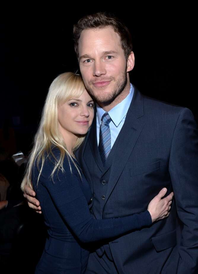 Actress Anna Faris (L) and Breakthrough Performer of the Year award winner Chris Pratt attend The CinemaCon Big Screen Achievement Awards at CinemaCon in Las Vegas. Photo: Michael Buckner, Getty Images For CinemaCon