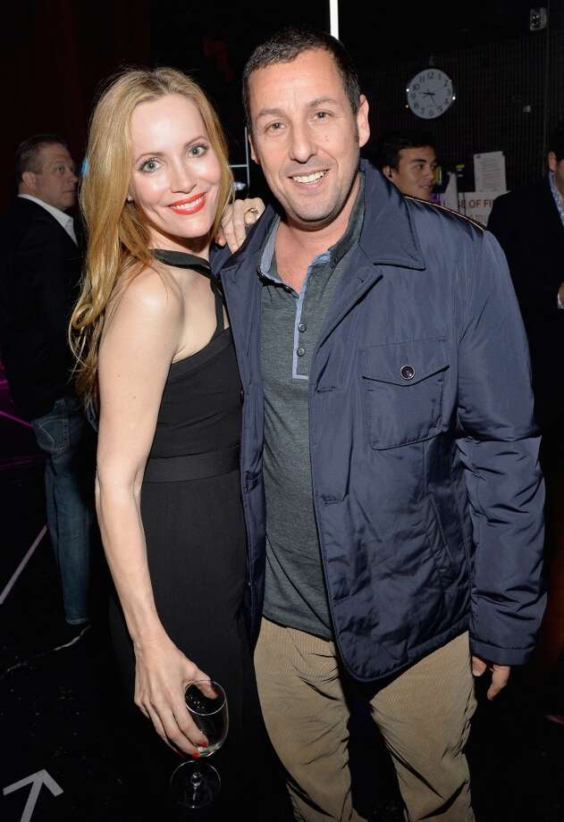 Actors Leslie Mann (L) and Adam Sandler attend The CinemaCon Big Screen Achievement Awards at CinemaCon in Las Vegas. Photo: Michael Buckner, Getty Images For CinemaCon