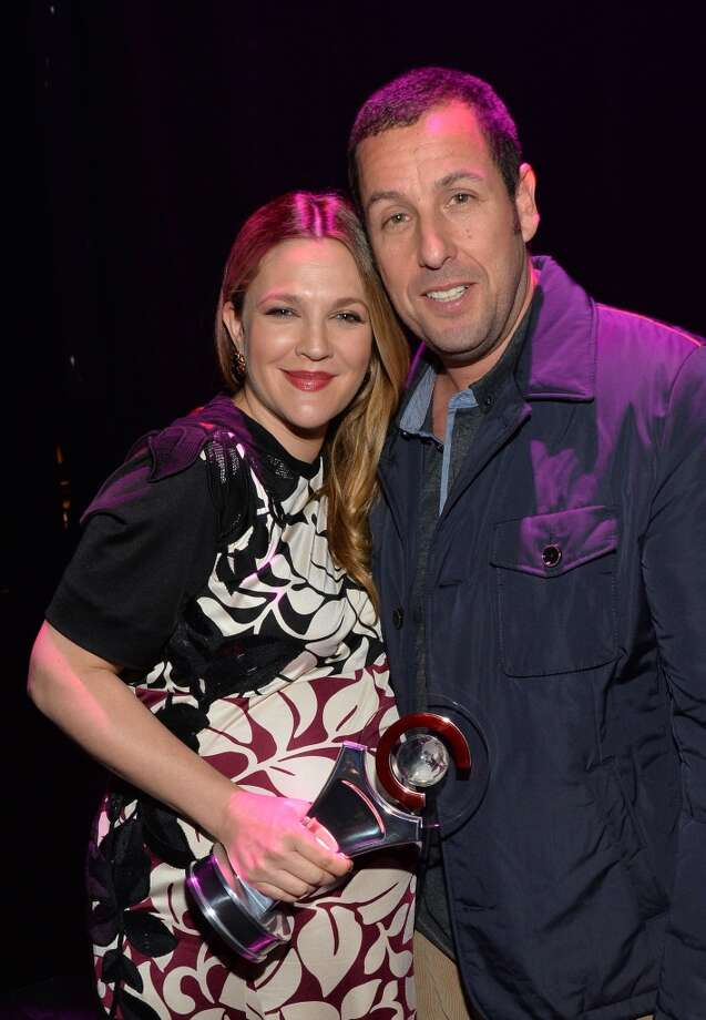 Female Star of the Year award winner Drew Barrymore (L) and Male Star of the Year award winner Adam Sandler attend The CinemaCon Big Screen Achievement Awards  on March 27, 2014 in Las Vegas, Nevada. Photo: Michael Buckner, Getty Images For CinemaCon