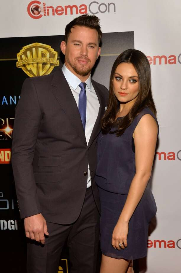 "Actors Channing Tatum and Mila Kunis attend Warner Bros. Pictures' ""The Big Picture,"" an Exclusive Presentation Highlighting the Summer of 2014 and Beyond during CinemaCon. Photo: Michael Buckner, Getty Images For CinemaCon"