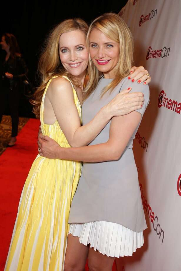 Leslie Mann and Cameron Diaz seen at Twentieth Century Fox 2014 CinemaCon presentation, on Thursday, March 27, 2014, in Las Vegas. Photo: Eric Charbonneau, Associated Press