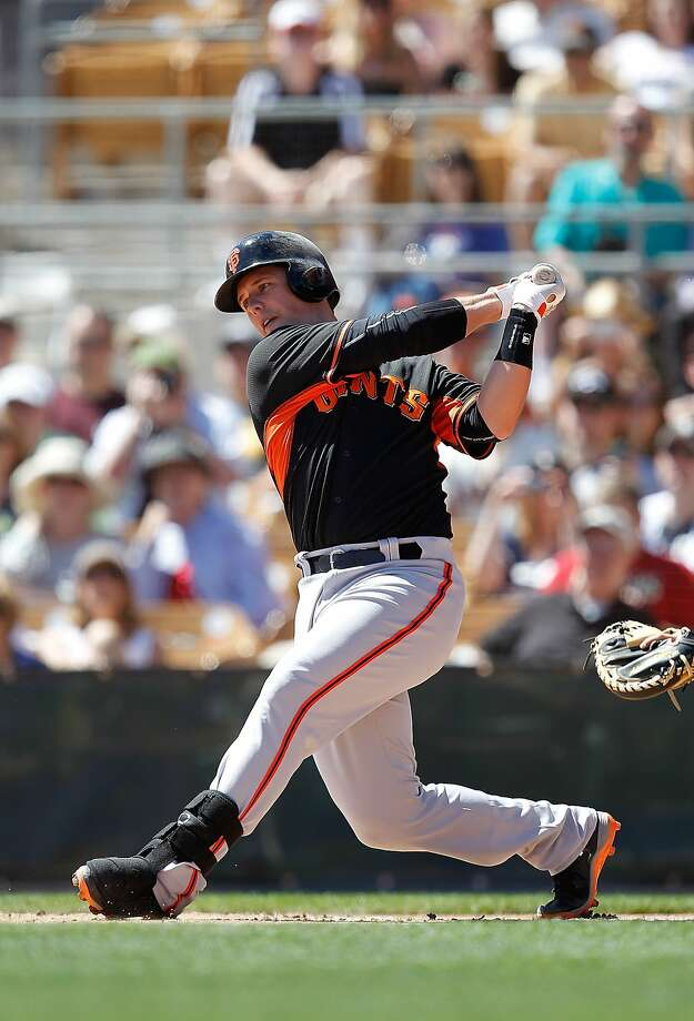 "Catcher Buster Posey says the Giants' Arizona spring training was ""crisp."" Photo: Sarah Glenn, Getty Images"