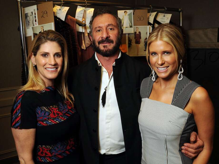 Designer Ralph Rucci with chairs Greggory Burk,at left, and Allie Fields backstage before the Houston Chronicle's 32nd Annual Best Dressed Luncheon. Photo: Dave Rossman, For The Houston Chronicle