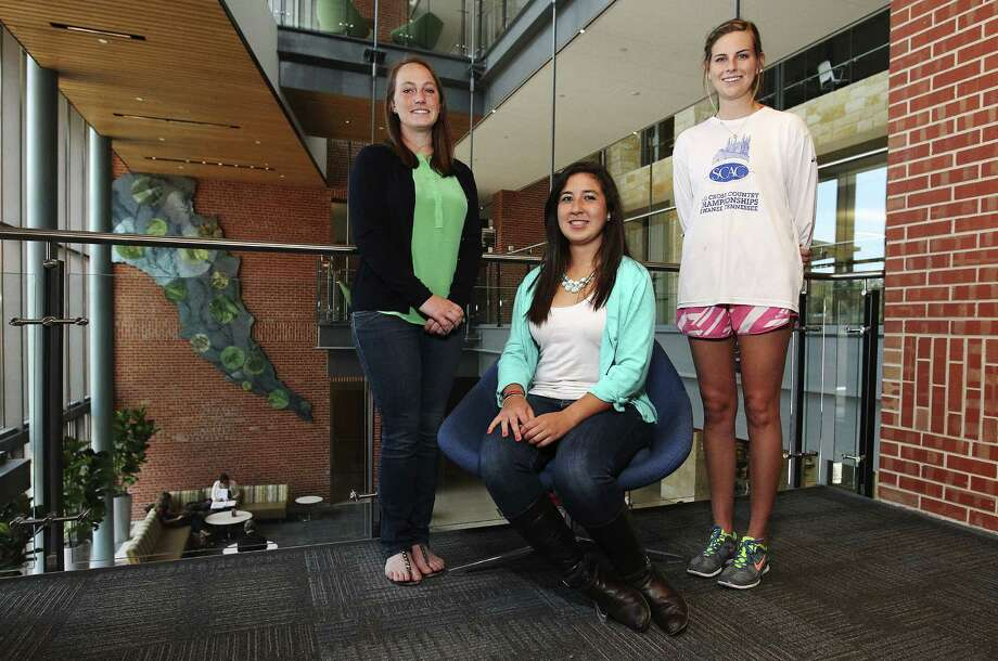 Engineering Science seniors at Trinity University, Kylie Hornbeck (from left), Laura Roa and Molly McCarthy will soon be graduating and have already received job offers to start their careers in the energy field. Photo: Kin Man Hui / San Antonio Express-News / ©2013 San Antonio Express-News