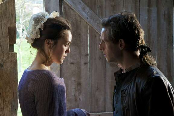 Anna Strong (Heather Lind) and Abraham Woodhull (Jamie Bell) - TURN _ Season 1, Episode 1 - Photo Credit: Antony Platt/AMC