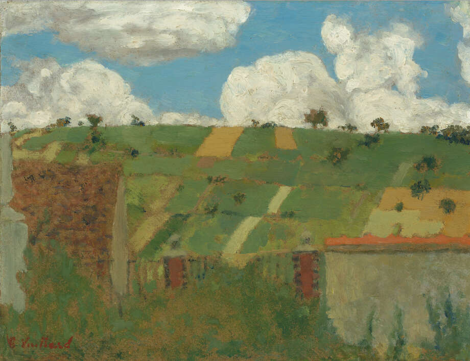 """Landscape of the Ile-de-France"" (c. 1894) oil on cardboard by Edouard Vuillard"