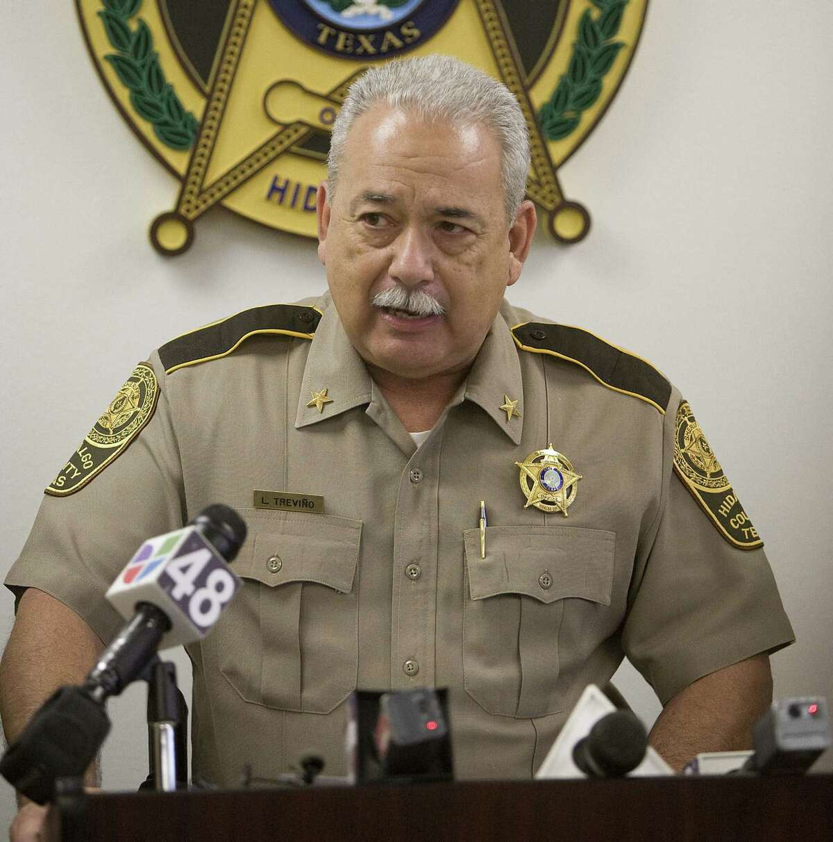 """Hidalgo County Sheriff Guadalupe """"Lupe"""" Trevino cited """"internal and external pressures"""" in submitting his resignation Friday. His tenure as sheriff has been plagued by controversy."""