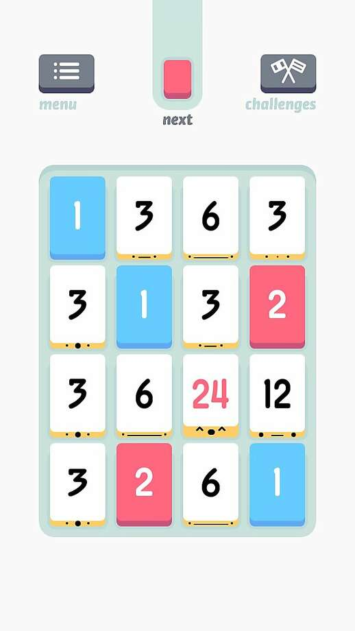 THREES a math matching game for iOS7 devices only. Photo: Sirvo LLC
