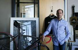 Rich Silverstein stands by his bicycle in his office at Goodby Silverstein and Partners ad agency on California Street on February 21, 2014 in San Francisco, Calif. Silverstein, an avid cyclist, recently moved to San Francisco but used to commute to work across the Golden Gate Bridge from Marin every day on his bicycle.