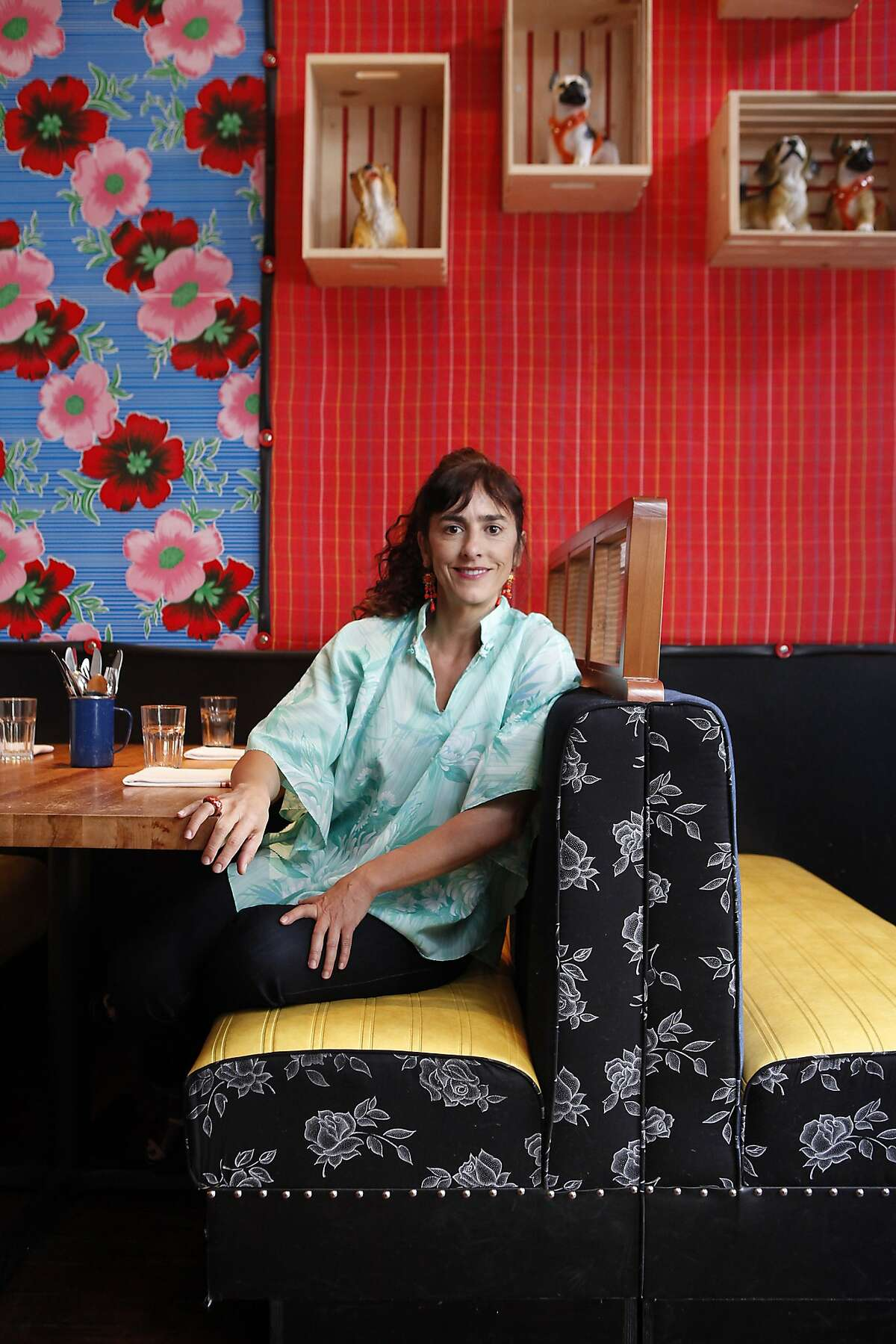 Designer Lorena Zertuche sourced items locally and from Mexico when she decorated the interior of Lolo when the restaurant moved to it's new location on Valencia St. in San Francisco, CA, Thursday March 27, 2014.