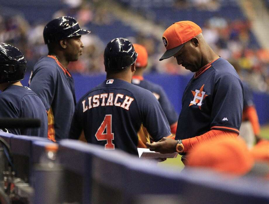 Astros manager Bo Porter during the second inning. Photo: Karen Warren, Houston Chronicle