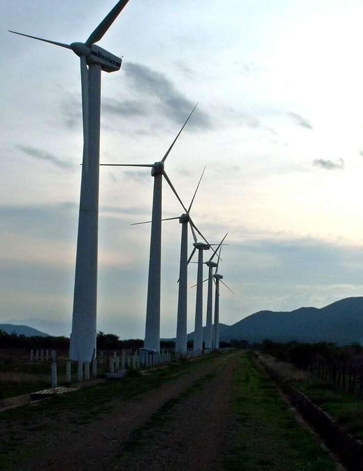 Some of Mexico's first wind turbines began rising in the southern state of Oaxaca in the 1990s. Since then Mexican regulators have issued permits in other locations, including the border states of Baja California, Tamaulipas and Nuevo Leon. Photo: ALBERTO ROMERO SAUCEDO, MBR / DALLAS MORNING NEWS