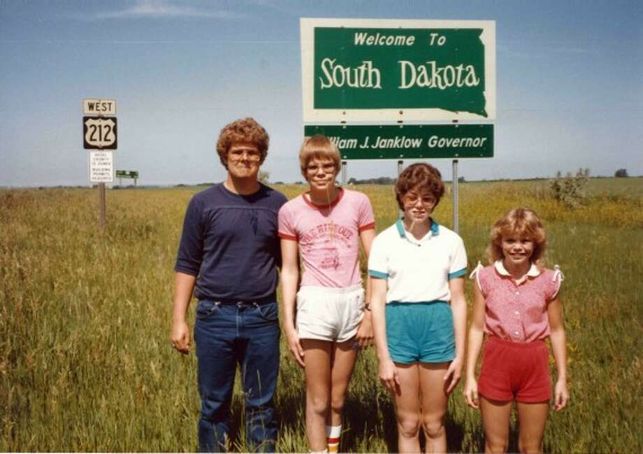 The oldest brother refused to wear short-shorts, even in balmy South Dakota. Photo: Awkward Family Photos