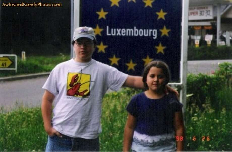 Another brother and sister brought closer together by the healing powers of Luxembourg. Photo: Awkward Family Photos