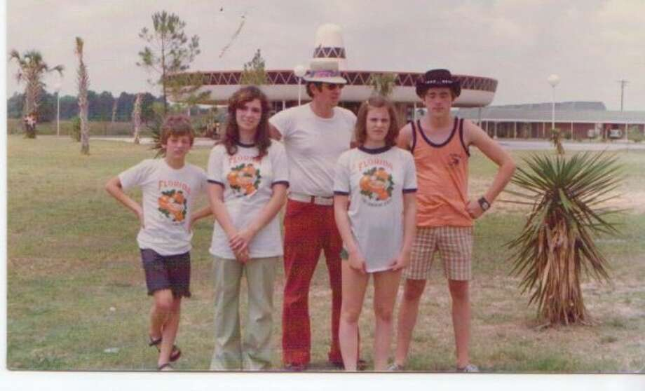 Could that be the Griswold family standing in front of the world's largest sombrero? Photo: Awkward Family Photos