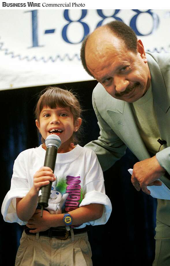 Sherman Hemsley of 'The Jeffersons' and 7-year-old Jessica Adona - winner of the 1998 Pillsbury Doughboy Giggle-Off Contest - giggled their hearts out to kick-off the 1999 search for 'America's Best Giggler.'  People of any age may enter the national giggle contest by calling 1-888-WE-GIGGLE through May 31 for the chance to win the $50,000 grand prize. (Business Wire photo) Photo: BW / PILLSBURY