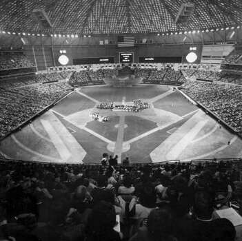 Celebration for Apollo 11 astronauts at the Astrodome, August 1969.