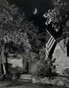 The moon hangs over Neil Armstrong's house in El Lago as he walks on the moon in July 1969. Photo: Curtis McGee, Chronicle