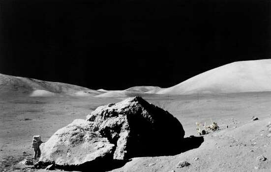 Geologist Harrison Schmitt collects rock samples from the moon for Apollo 17, the last lunar mission in 1972. Photo: NASA File