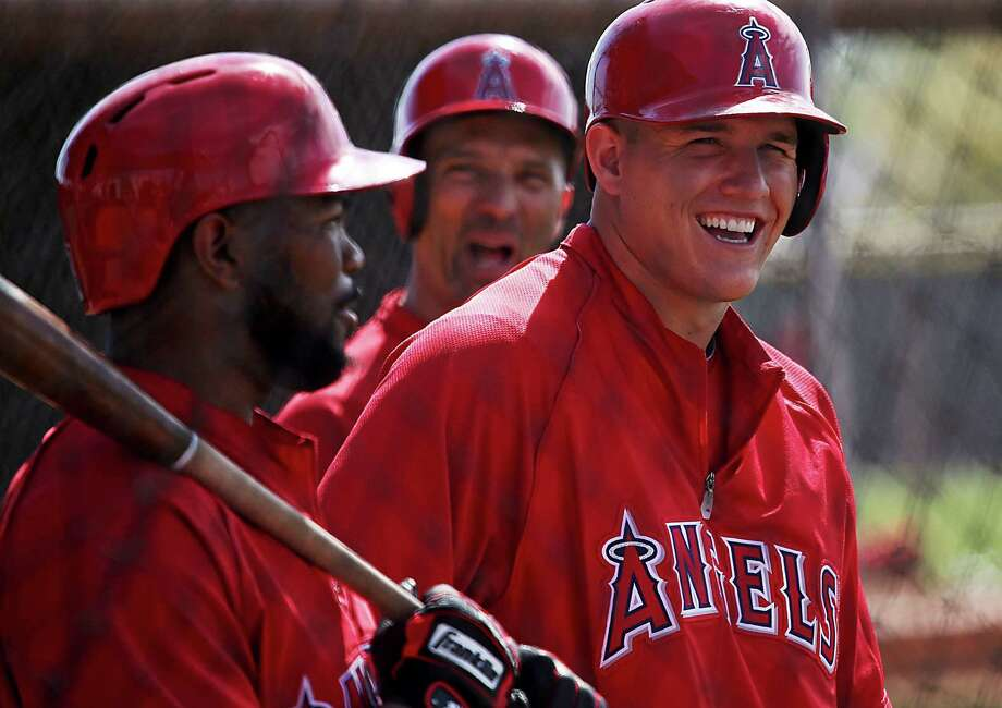 The Angels, who are among the AL West's big spenders, signed Mike Trout to a six-year, $144.5 million contract extension. Photo: Luis Sinco, MBR / Los Angeles Times