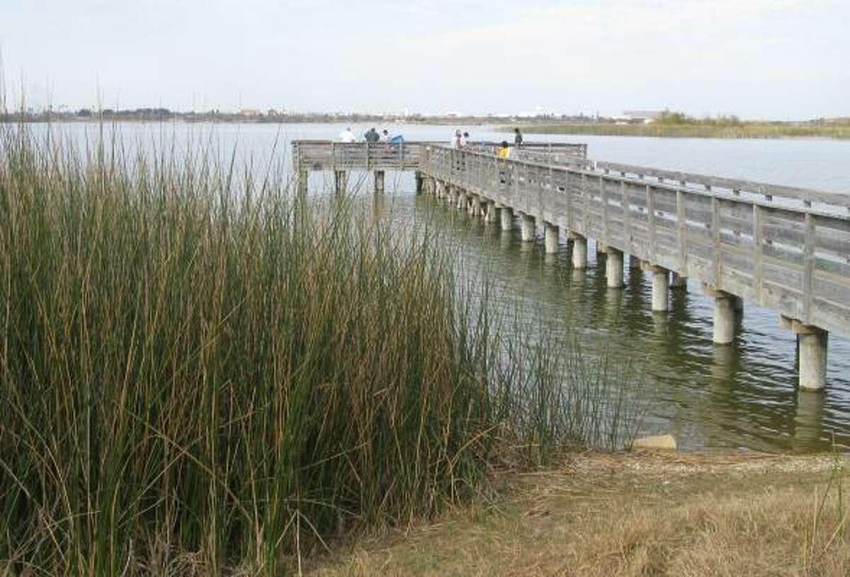 9. Lake Casa Blanca: Pier and shoreline fishing is popular near Laredo on the Mexico border.