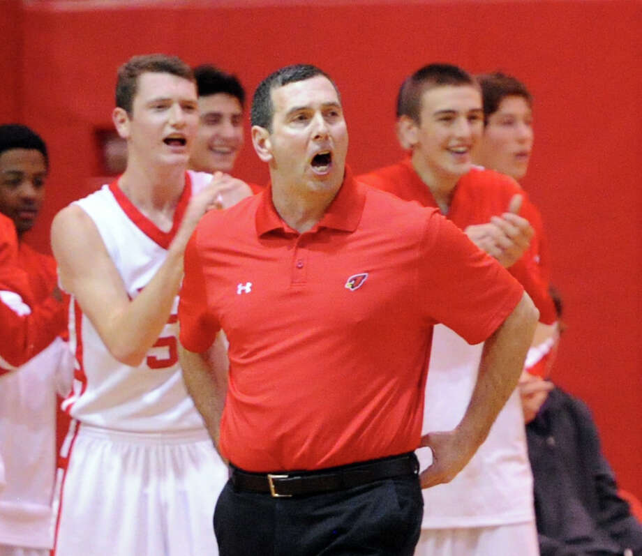 Greenwich High's Bill Brehm was named the FCIAC Coach of the Year. Photo: Bob Luckey / Greenwich Time